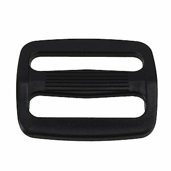 25mm Nero Plastica Triglide Slider Buckle