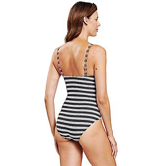 Rsch 1205508-12558 Femmes-apos;s Ringlet Black Striped Underwired Costume One Piece Shaping Maillot de bain
