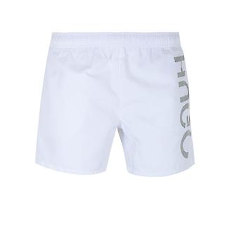 HUGO Saba White Swim Shorts