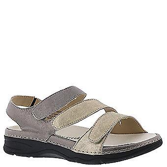 Drew Angela - Women's - Comfort Wedge Sandal Gold/pwtr Multi - 5 W-Wide