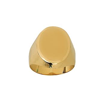 14k Yellow Gold Signet Engravable Oval Ring Jewelry Gifts for Women - Ring Size: 6 to 9