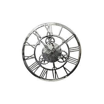 Light & Living Clock 60cm Sign Nickel