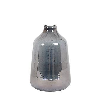Light & Living Vase 17x27cm Deoni Glass Stone Finish Blue