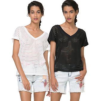 Desigual Sheer Lines Sandra Tshirt