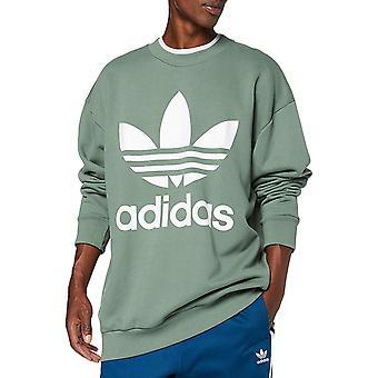 adidas Originals Mens Trefoil Oversized Crew Neck Sweatshirts Jumper Top - Green