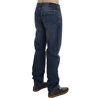 Exte Plain Blue Wash Cotton Regular Fit Jeans