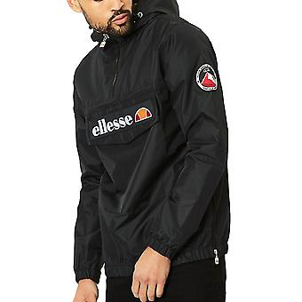 Ellesse Heritage Mont 2 Over Head 1/4 Zip Mens Hooded Jacket Black