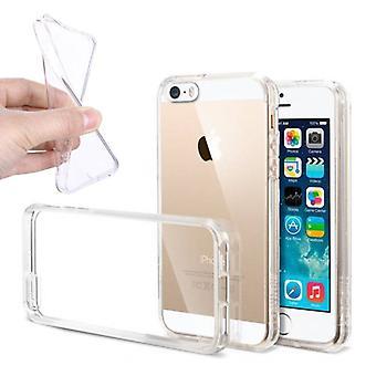 Stuff certificeret® 10-Pak transparent klar silikone taske Cover TPU sag iPhone 5S