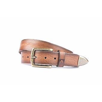 Tuff Cognac färgade Jeans bälte med stål spets