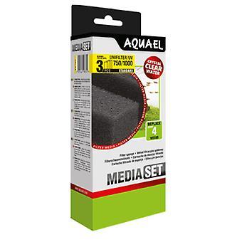 Aquael Ersatzschwammfilter Unifilter-750-1000 Y Uv (3 Uni)