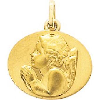 Pendentif Medaille ange Or 375/1000 (9K)