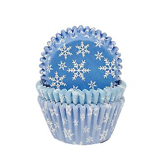 Snowflake Frozen Party Cupcake Cases Wrappers - Cake Decoration x 75