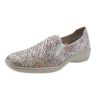 ريكر 413q6-90 جيلي مريحة أحذية الموضة في الأبيض متعدد