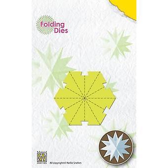 Nellie's Choice Rosette Folding Die - Weihnachtskugelstern klein NFD018