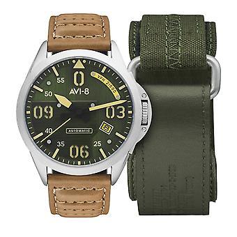 AVI-8 AV-4069-02 Mustang Bottisham Green Dial Wristwatch
