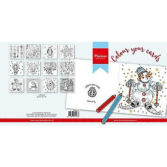 Marianne Design Colour your cards - Christmas 12pc PK9137