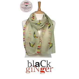Black Ginger British Artists Endangered Species Charity Scarf - Stag (734-601)
