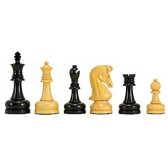 Byzantine Series Ebony and Boxwood Chess Pieces 4 Inches