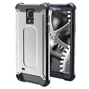Shell pour Samsung Galaxy Note 4 - Armor Silver Protection Case