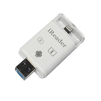 Muisti kortti sovitin iPhoneen, iPadiin, Androidille MicroSD/SD-kortille