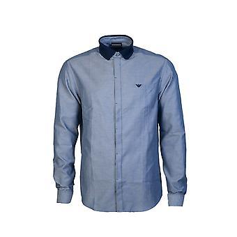 Emporio Armani Skjorte Vanlig Passform 6g1c71 1n78z