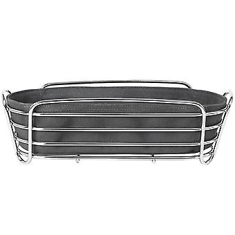 Blomus bread basket DELARA chrome-plated steel wire with cotton insert magnet