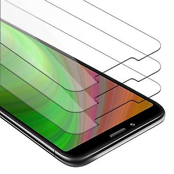 Cadorabo 3x Tank Foil for Xiaomi RedMi 7A - Protective Film in KRISTALL KLAR - 3 Pack Tempered Display Protective Glass in 9H Hardness with 3D Touch Compatibility