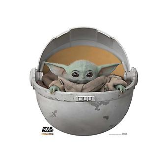The Child (Baby Yoda) In The Pod Official Mandalorian Cardboard Cutout