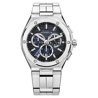 Michel Herbelin | Men's Cap Camarat | Stainless Steel Bracelet | Blue Dial 37645/B15 Watch