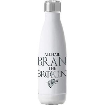 Game Of Thrones All Hail Bran The Broken Insulated Stainless Steel Water Bottle