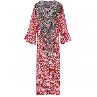 Inoa Shiraz Silk Frill Sleeve Kaftan
