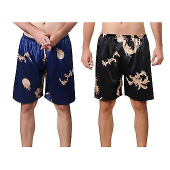 Allthemen Men's Sleep Shorts Lätta ventilerande 2-piece hem badshorts