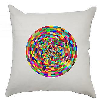Colourful Cushion Cover 40cm x 40cm - Colourful Circle 2