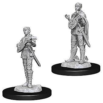 D'amp; D Nolzur-apos;s Marvelous Unpainted Miniatures Female Half-Elf Bard (Pack de 6)