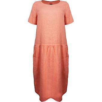 Backstage Mandarin Linen Dress