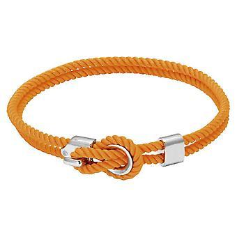 Rochet B3204019 pulsera - Marinero de acero y algodón de cordón naranja mujeres
