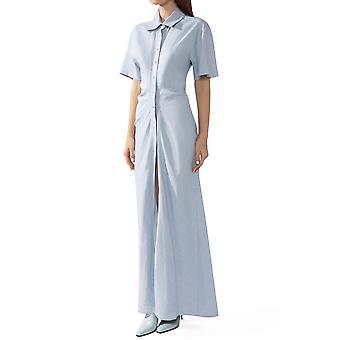 Off-blanc Owdb248s20fab0014000 Women-apos;s Light Blue Linge Robe