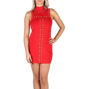 Woman sleeveless turtleneck neckline dress g03639