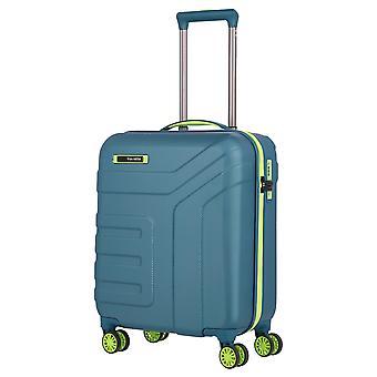 travelite Vector Håndbagage Trolley S, 4 ruller, 55 cm, 40 L, krikand / limone