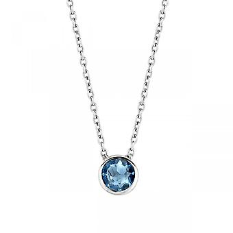 Necklace Ti Sento Indigo Impressions 3845DB-42 - necklace silver and stone blue set with operating closed woman