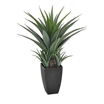 Artificial Agave 73cm In A Decorative Black Pot