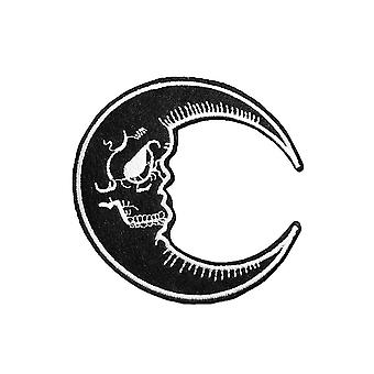 Attitude Clothing Skull Moon Large Woven Patch