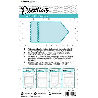 Studio Light Embossing Die Cut Stencil Essentials Nr.117 STENCILSL117