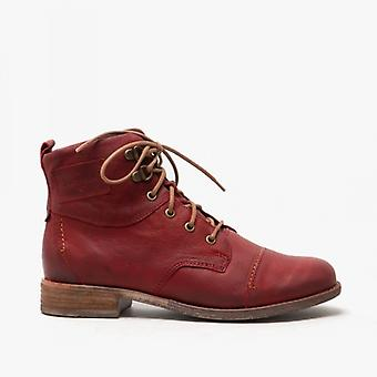 Josef Seibel Sienna 17 Ladies Leather Ankle Boots Red