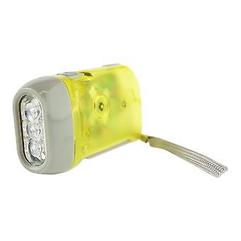 Hand-driven LED flashlight-Yellow