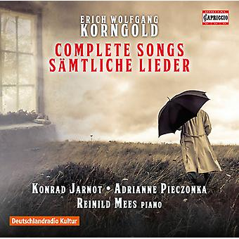 Korngold / Jarnot / Mees - Korngold / Jarnot / Mees: Complete Songs [CD] USA import