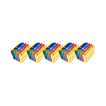 RudyTwos 5x Replacement for Epson Apple T1295 Set Ink Unit Black Cyan Magenta & Yellow Compatible with Stylus SX230, SX235W, SX420W, SX425W, SX430W, SX435W, SX438W, SX440W, SX445W, SX445WE, SX525WD, S