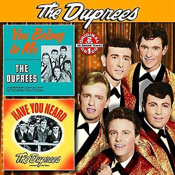 Duprees - du tillhör mig / har du hört [CD] USA import
