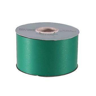 45m Matt Emerald Green 5cm Wide Floristry Poly Ribbon for Crafts