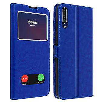 Wiko View 4/4 Lite Integral Back cover Double Window Blue